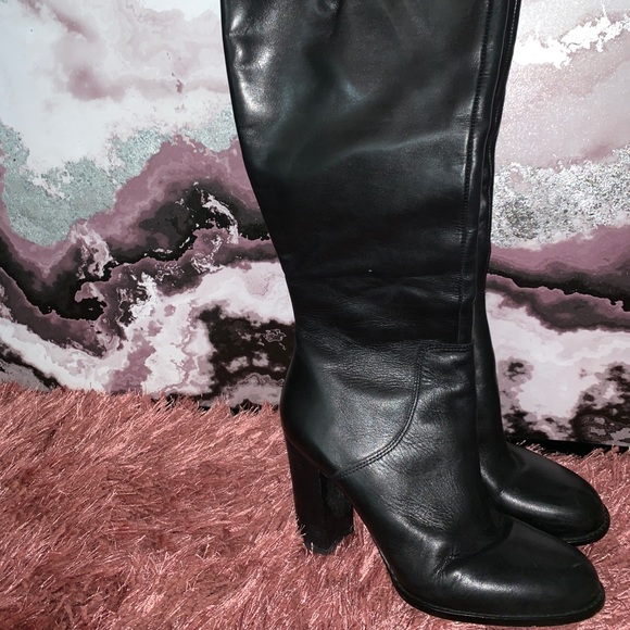 Sam Edelman Shoes - Tall Black Leather Boots Size 9